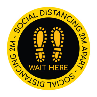 Yellow Social Distance Sticker